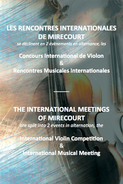 Rencontres Internationales de Mirecourt